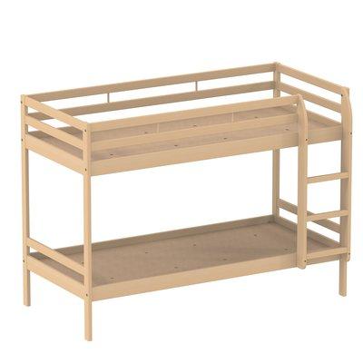 lit superpos naya 80 x 200 cm sommier panneau h tre verni naturel. Black Bedroom Furniture Sets. Home Design Ideas