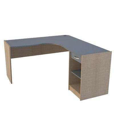 bureau d 39 angle avec 1 caisson et 1 tiroir tombelaine. Black Bedroom Furniture Sets. Home Design Ideas