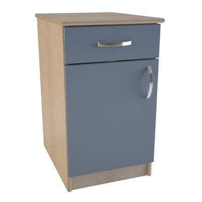 meuble bas 1 tiroir et 1 porte tombelaine l 38 x h 75 x pr 53 cm