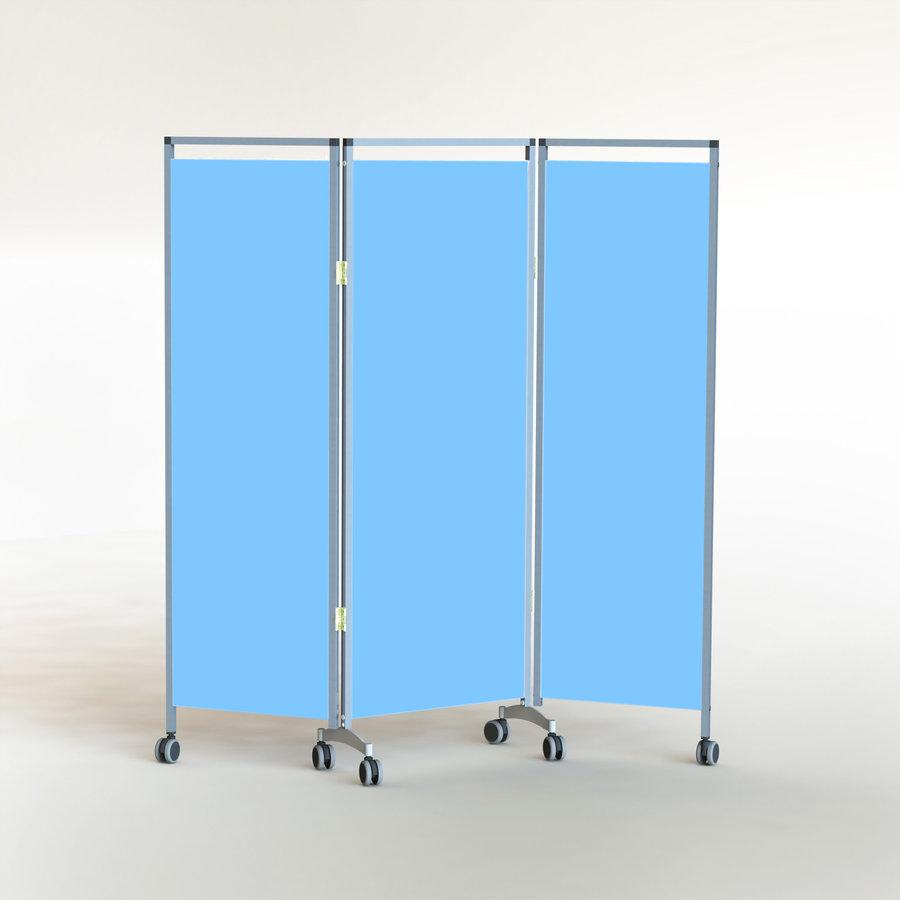 paravent 3 panneaux 161 x 167 5 cm rideaux semi rigides hauteur 146 5 cm 6 roulettes. Black Bedroom Furniture Sets. Home Design Ideas