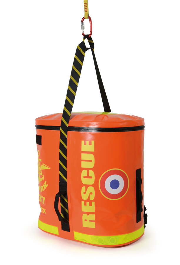Sac dos pour milieu aquatique shark orange b che pvc for Bache aquatique