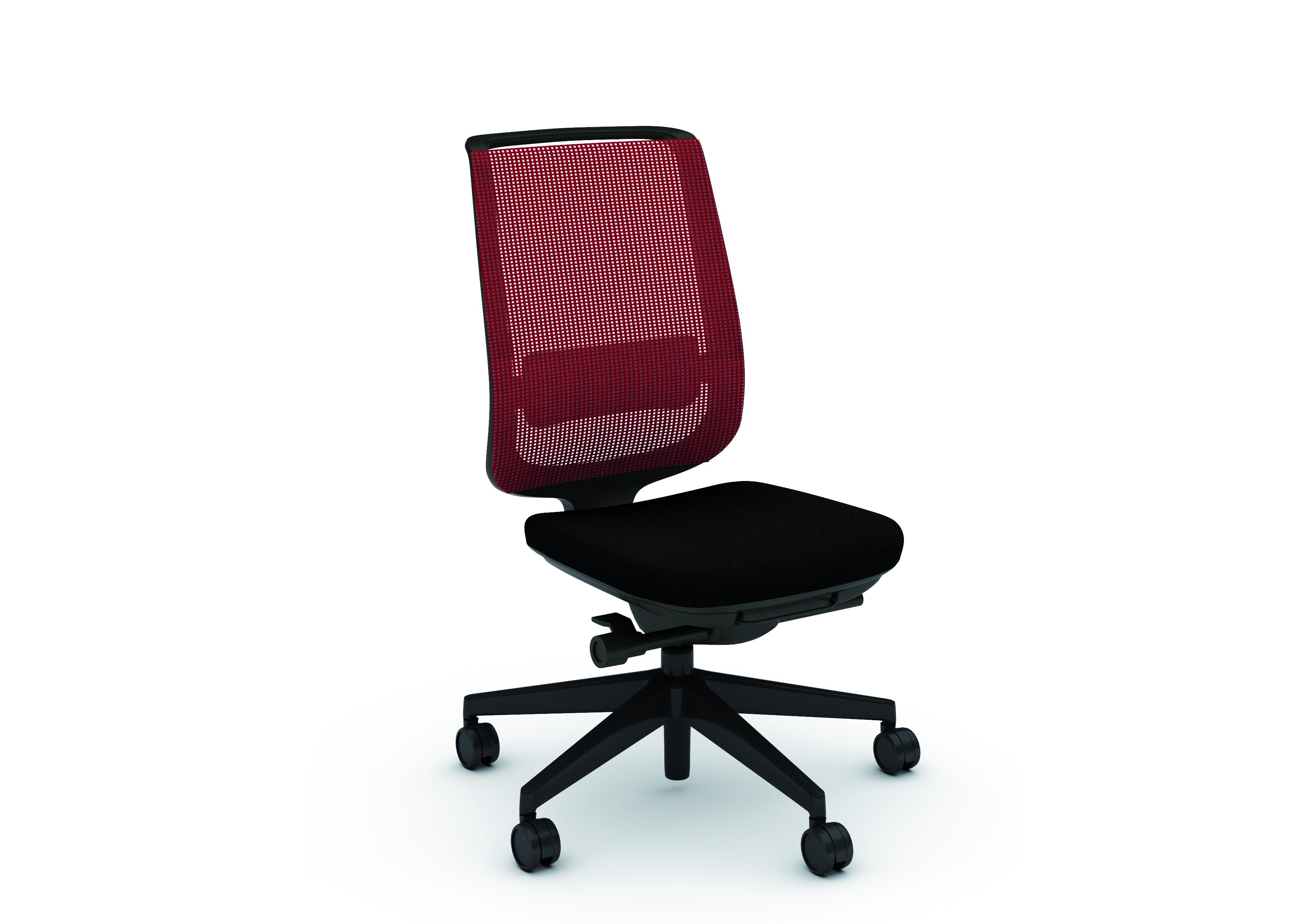 Chaise de bureau reply air assise tissu dossier résille