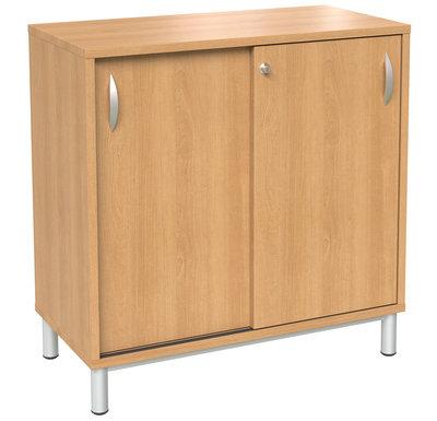 meuble bas p querette portes coulissantes aulne l 115 cm. Black Bedroom Furniture Sets. Home Design Ideas