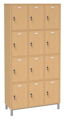 meuble casiers p querette 12 cases porte pleine cl h tre. Black Bedroom Furniture Sets. Home Design Ideas