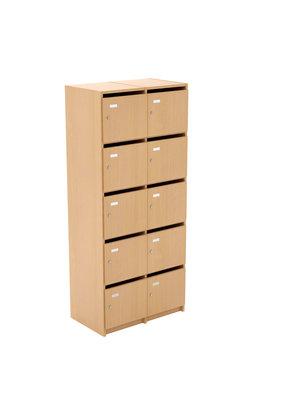 meuble casiers eureka 2 x 5 cases portes bo te aux lettres cl l 78 x h 180 x pr 45 cm. Black Bedroom Furniture Sets. Home Design Ideas