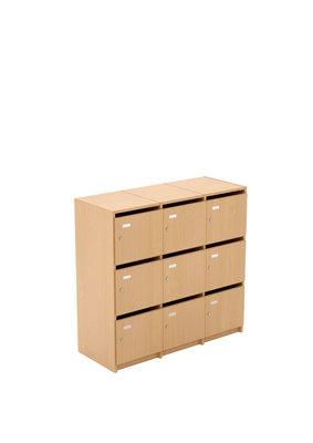 Meuble A Casiers Eureka 3 X 3 Cases Portes Boite Aux Lettres A