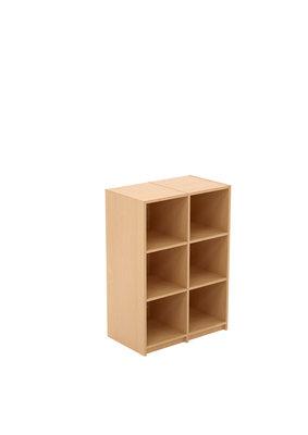 meuble casiers eureka 2 x 3 cases sans porte l 78 x h 111 x pr 45 cm