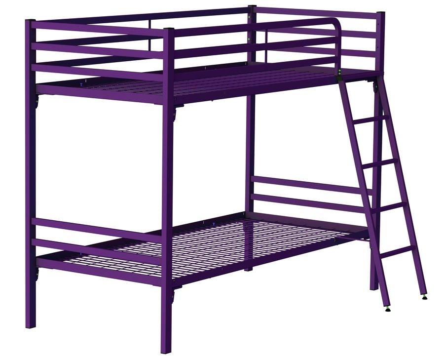 lit superpos yun 90 x 190 cm sommier treillis m tallique. Black Bedroom Furniture Sets. Home Design Ideas