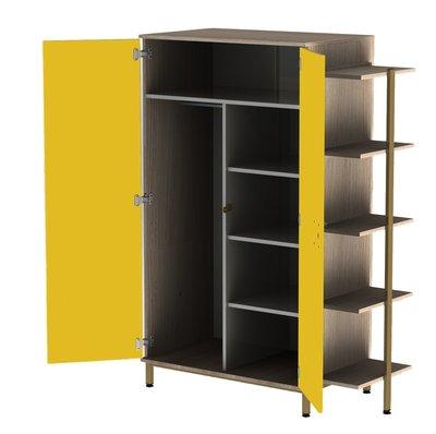 Armoire biblioth que 2 portes yun 1 porte penderie et 1 porte ling re for Armoire penderie 1 porte