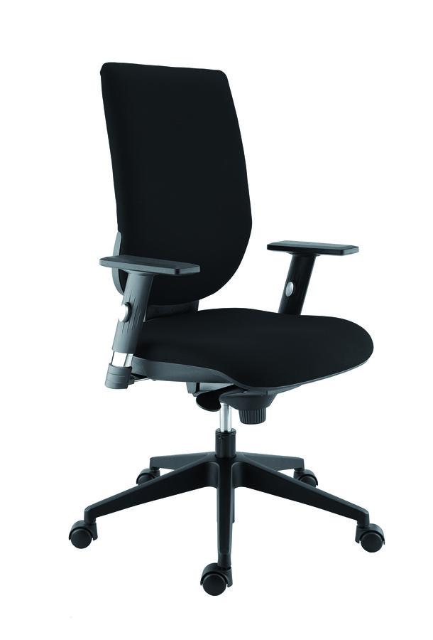 fauteuil de bureau tertio tissu noir panth re 009 roulette sol dur. Black Bedroom Furniture Sets. Home Design Ideas
