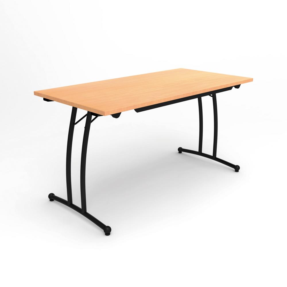 table pliante classime rectangulaire 140 x 70 cm pi tement poxy. Black Bedroom Furniture Sets. Home Design Ideas