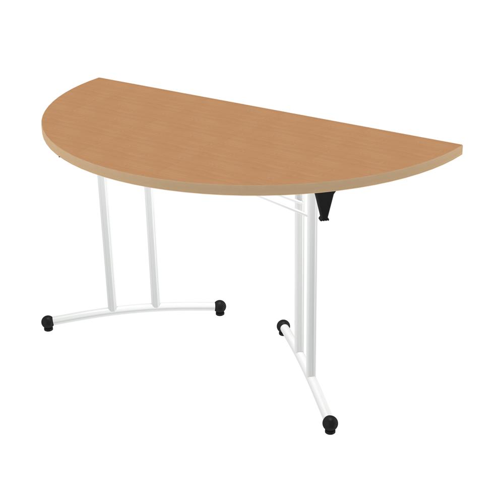 Table pliante demi lune classime l 140 cm pi tement poxy - Table demi lune pliante ...