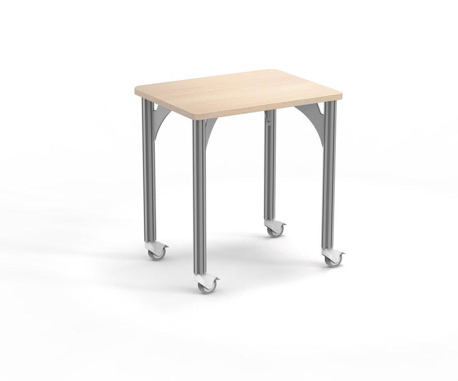 Table de tri Trimod - 80 x 60 cm - 4 pieds sur roulettes