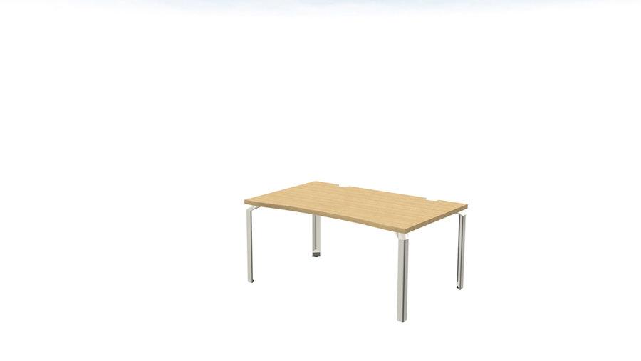 bureau droit ergonomique epure l 180 x pr 100 cm. Black Bedroom Furniture Sets. Home Design Ideas