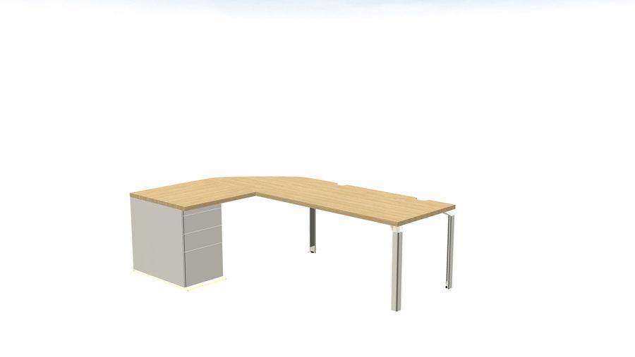 bureau droit epure l 140 x pr 80 cm angle 90. Black Bedroom Furniture Sets. Home Design Ideas