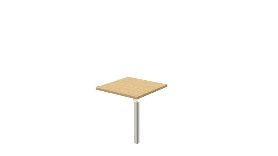 retour pour bureau compact 90 epure l 80 x pr 80 cm. Black Bedroom Furniture Sets. Home Design Ideas