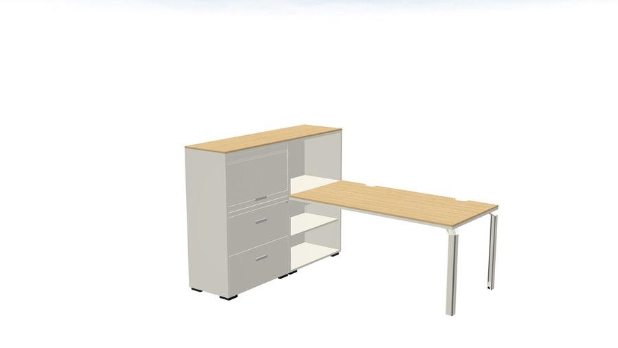 Bureau droit epure l. 160 x pr. 80 cm meuble de rangement haut