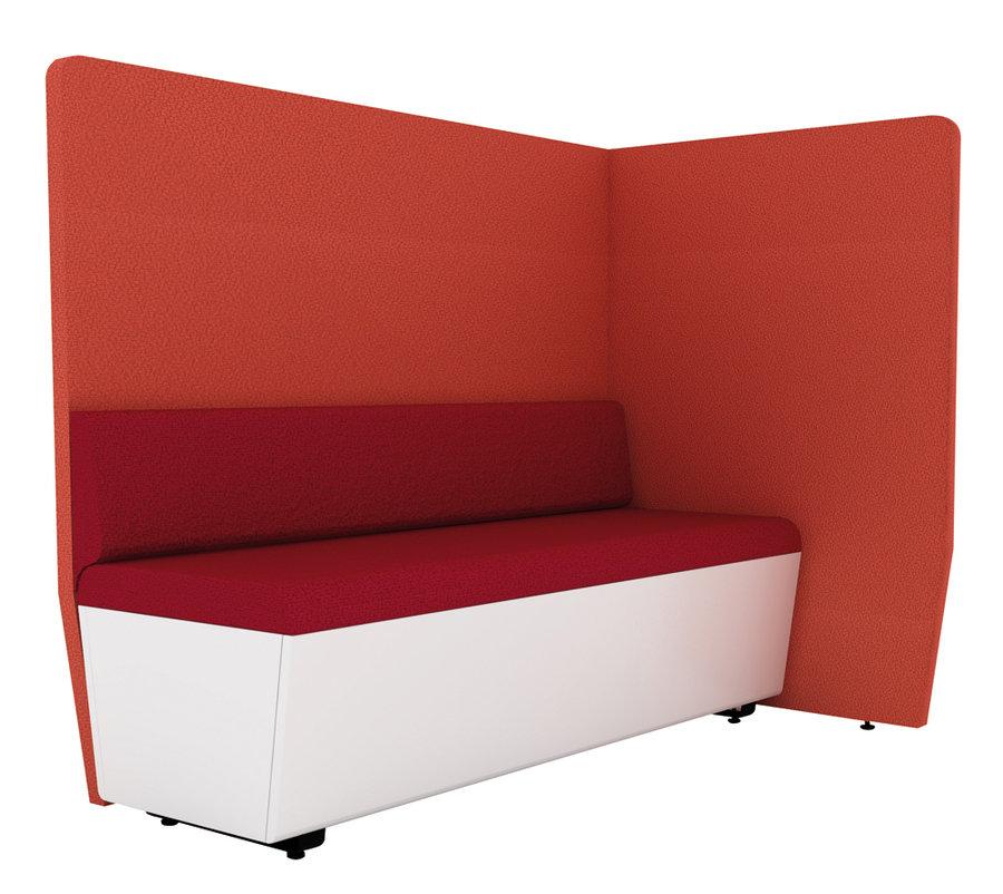 banquette 2 places avec dossier et 2 cloisons ltb 140 x 50 cm banquette tissu et cloison tissu. Black Bedroom Furniture Sets. Home Design Ideas