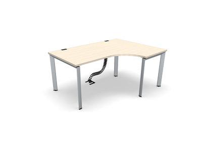 198a0f3a6d001 Bureau compact 90° asymétrique FrameOne II - l. 160 x l. 120 x pr. 80 + retour  60 cm - piétement arche