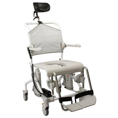 Chaise douche sur roulettes swift mobile dossier inclinable par v rin lectrique hauteur - Chaise de douche inclinable ...