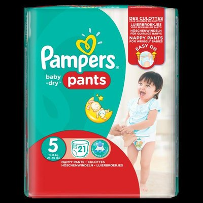 Change complet enfilable Pampers Pants Junior 12/18 kg 1 carton de 4 paquets de 21 unités