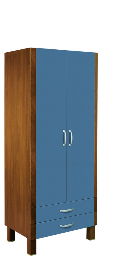 armoire toocana 2 portes 2 tiroirs l 100 cm. Black Bedroom Furniture Sets. Home Design Ideas