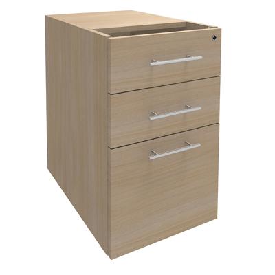 Caisson hauteur bureau lum a 2 tiroirs plats 1 tiroir pour dossiers suspendus sans coiffe - Caisson 2 tiroirs dossiers suspendus ...