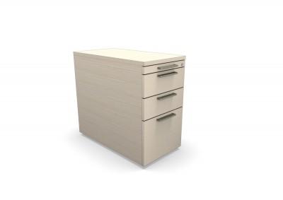 Caisson hauteur de bureau mélaminé ology tiroirs plats