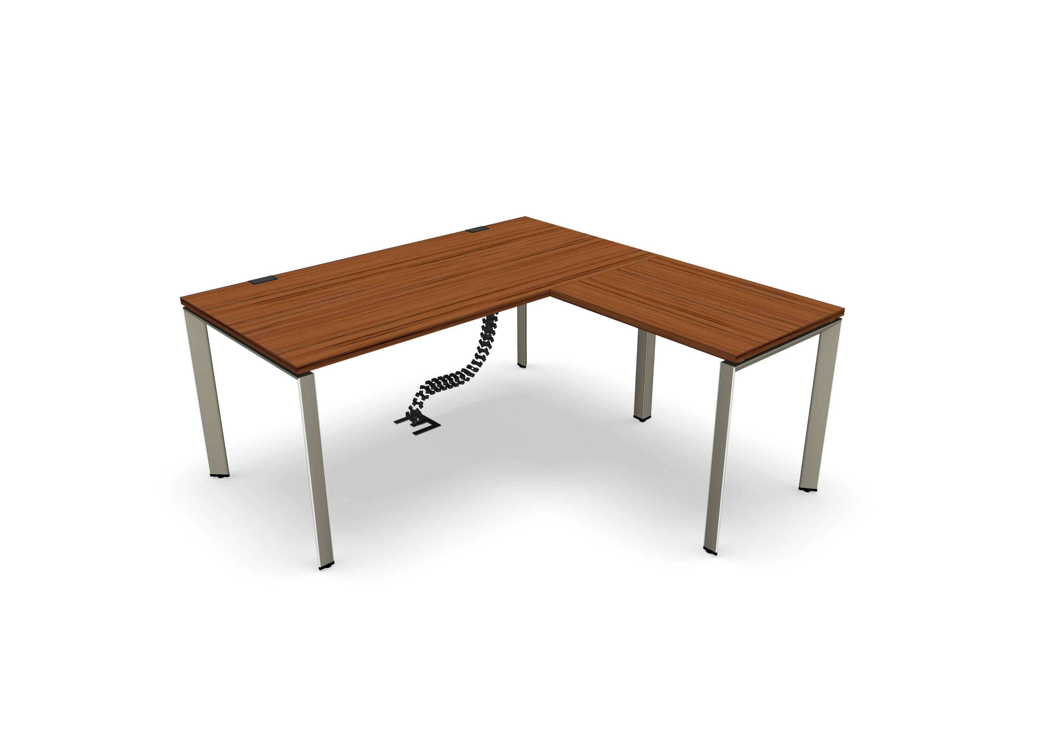 ac42a4a6840bd Bureau droit placage bois FrameOne II Manager - l. 160 x pr. 80 cm + retour  l.