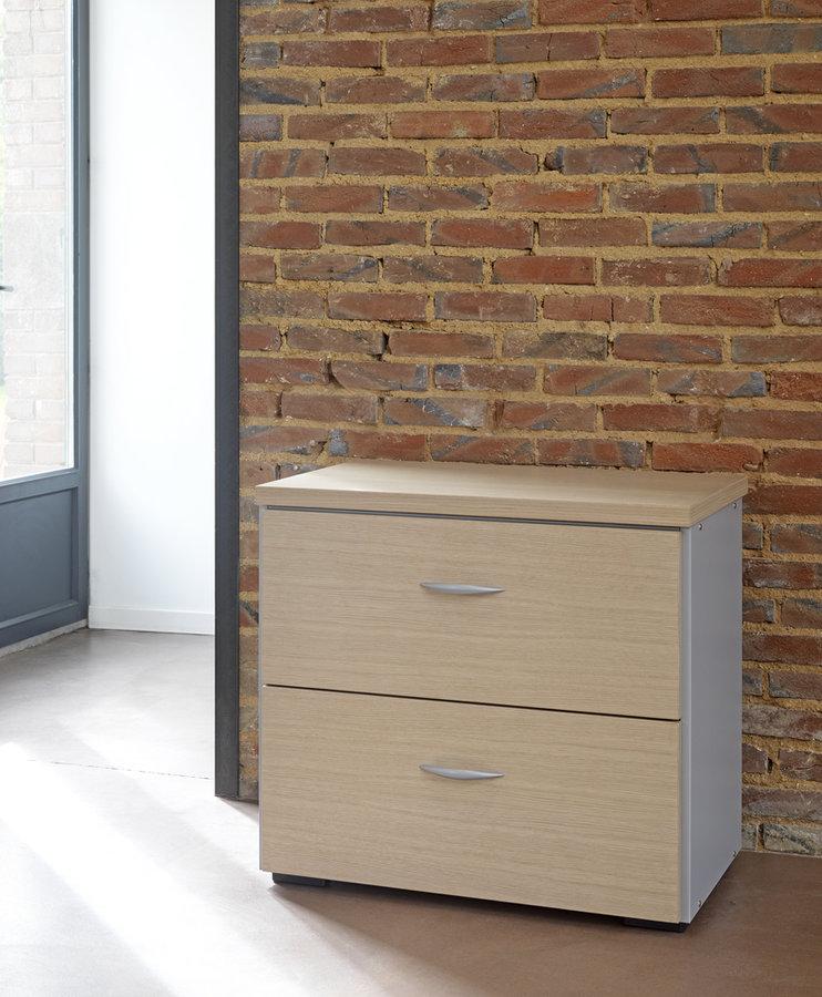 cr dence tiroirs m lamin placage bois amphit o 72x80 2 tiroirs pour dossiers suspendus. Black Bedroom Furniture Sets. Home Design Ideas