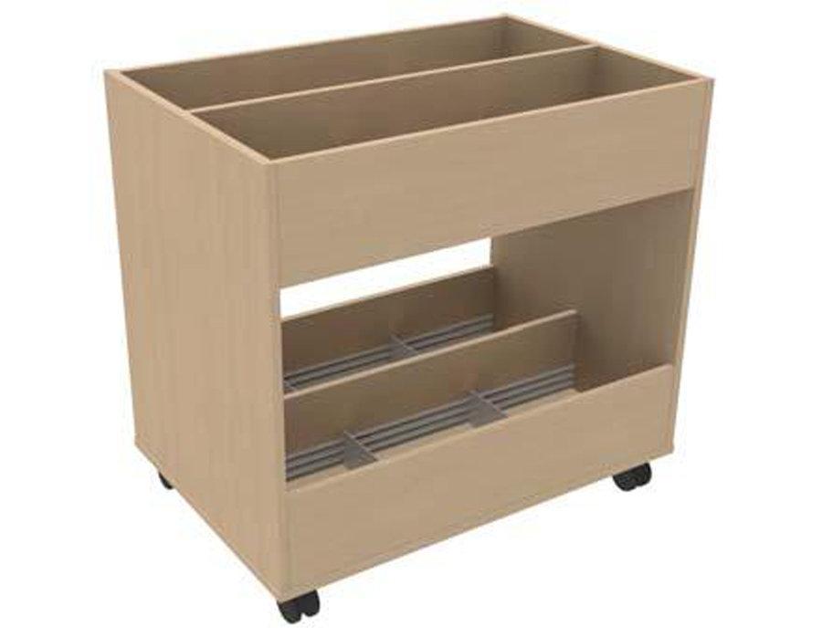 bac bd sur roulettes book 12 cases 2 niveaux. Black Bedroom Furniture Sets. Home Design Ideas