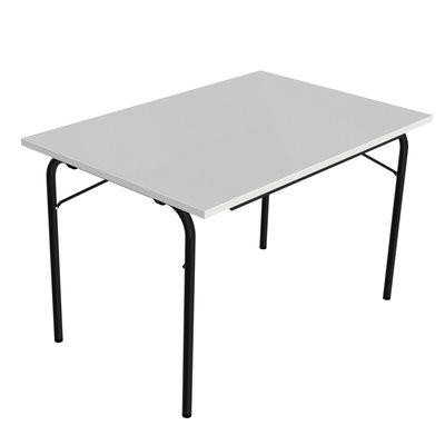table pliante visa 120x80 plateau gris nimbus pi tement noir. Black Bedroom Furniture Sets. Home Design Ideas