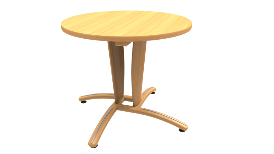 table maneo 90 cm pied central h tre vernis naturel chant alais. Black Bedroom Furniture Sets. Home Design Ideas