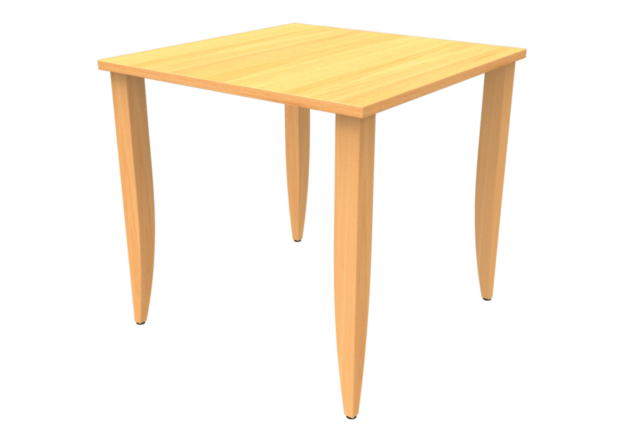 Table maneo 80 x 80 cm 4 pieds h tre vernis naturel for Table 80 x 80