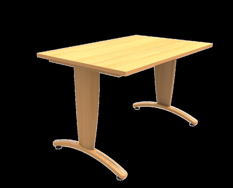 Table maneo 80 x 120 cm pied d gagement lat ral vernis - Pied de table telescopique reglable 80 120 cm ...