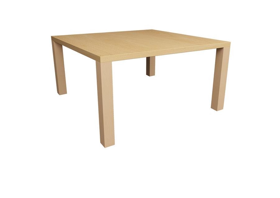 Table cumulus 80 x 80 cm 4 pieds h tre vernis teint for Table 80 x 80