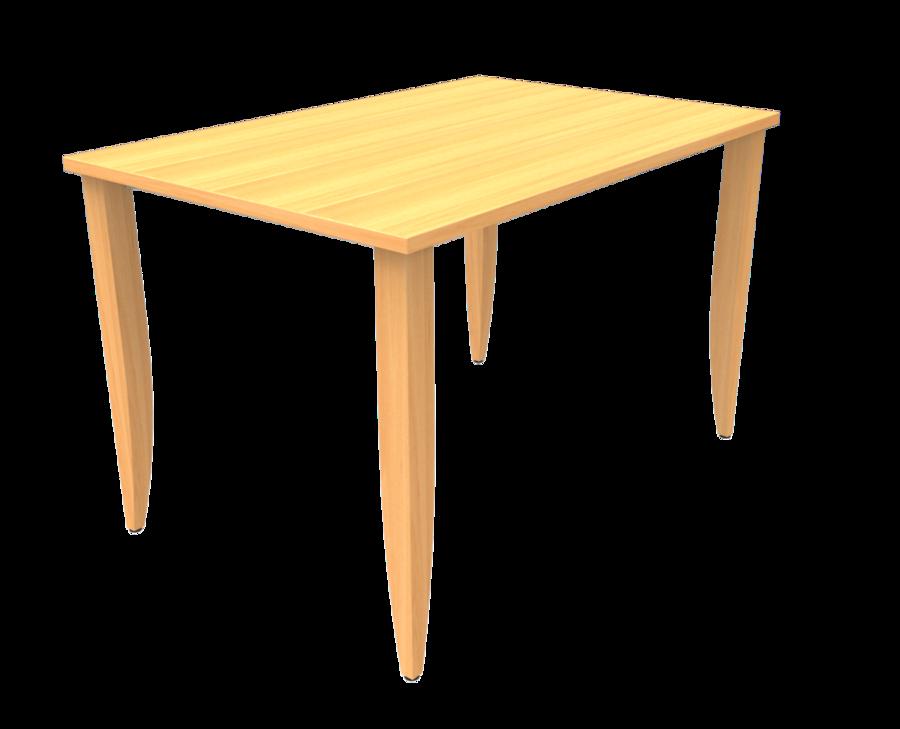 Table maneo 80 x 120 cm 4 pieds h tre vernis teint - Pied de table telescopique reglable 80 120 cm ...