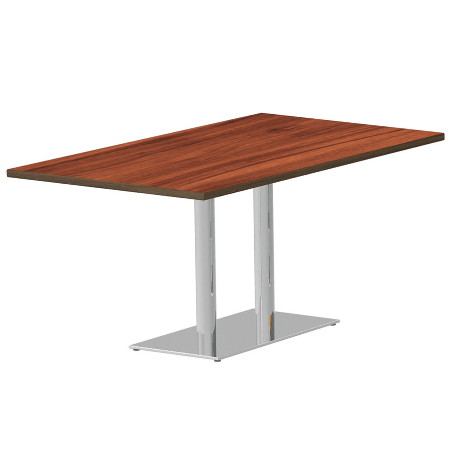 Table dhune 120x80 pied central m tal ala plateau - Plateau de table stratifie ...
