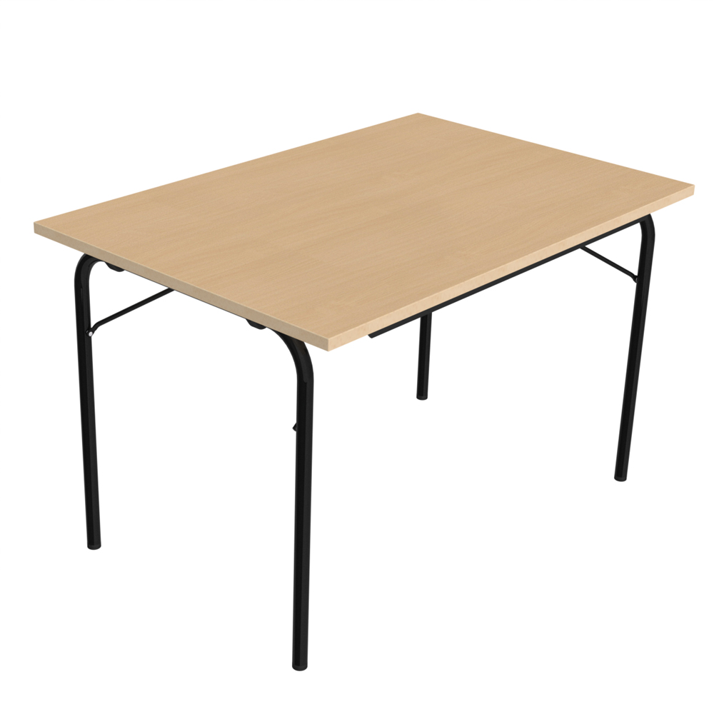 Table pliante visa rectangulaire 120 x 80 cm plateau - Table pliante rectangulaire double plateaux ...
