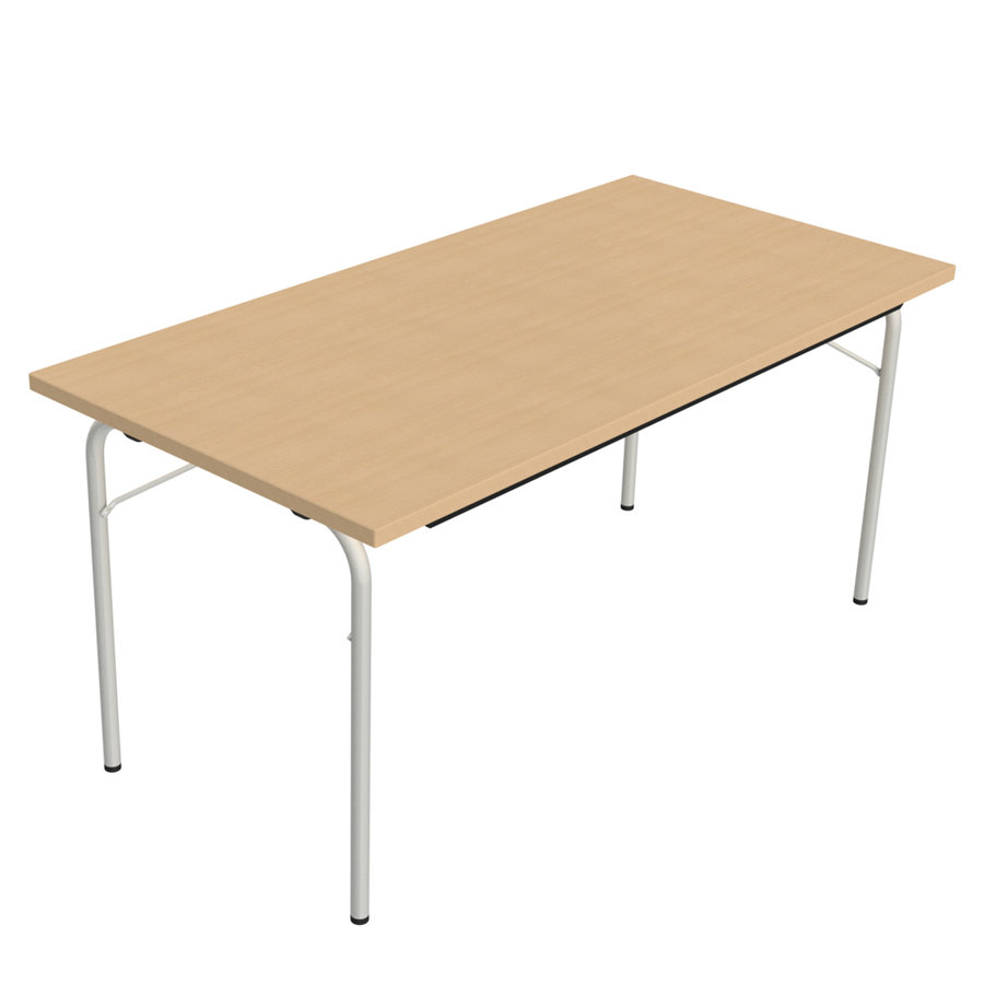 Table pliante visa rectangulaire 160 x 80 cm plateau - Table pliante rectangulaire double plateaux ...