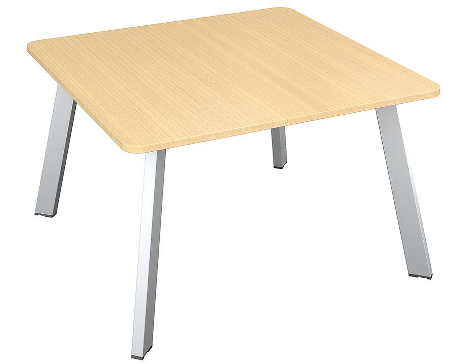 table de r union carr e 6 places fusion 120x120 4 pieds. Black Bedroom Furniture Sets. Home Design Ideas