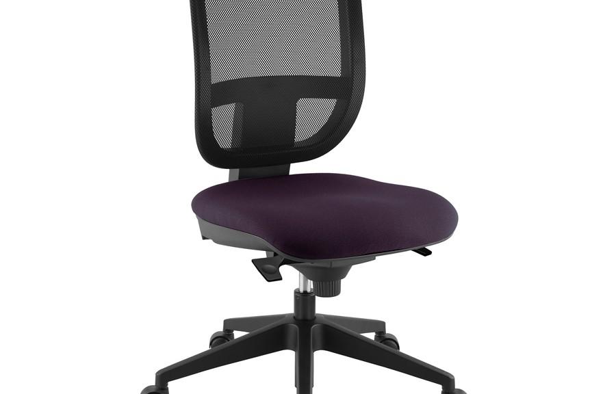 Chaise de bureau tertio s assise tissu dossier résille