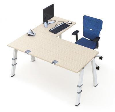 bureau droit fusion 180x80 retour 80x60 4 pieds. Black Bedroom Furniture Sets. Home Design Ideas