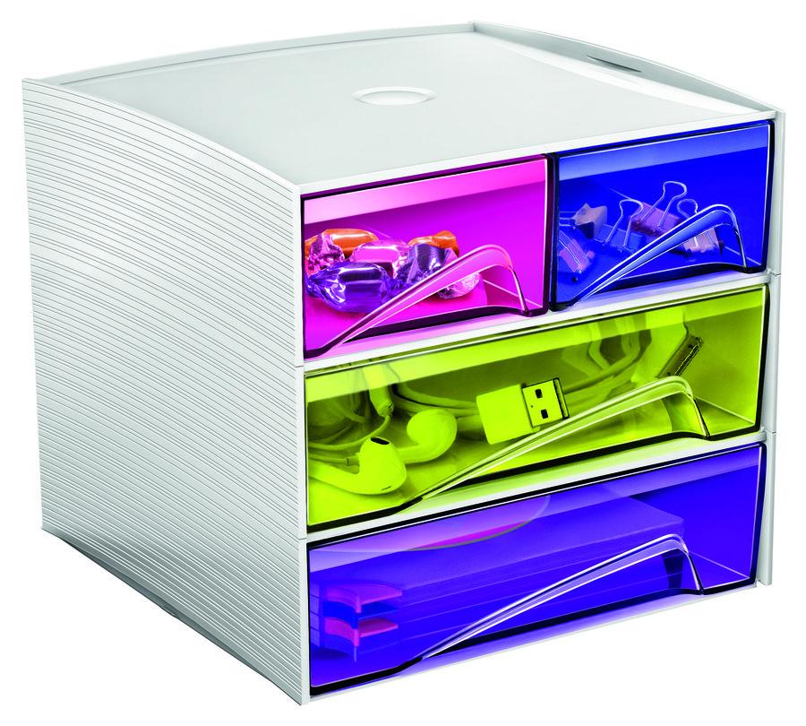 mini module de rangement cep mycube happy 4 tiroirs coloris assortis. Black Bedroom Furniture Sets. Home Design Ideas