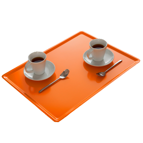 Plateau de self ultraplat Platex Slim - stratifié uni - 40 x 30 cm - lot de 20