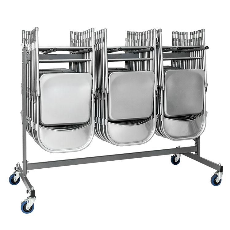 chariot de transport et de stockage pour chaises pliantes 1 niveau. Black Bedroom Furniture Sets. Home Design Ideas