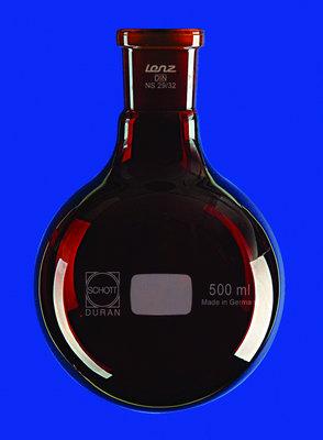 ballon fond rond en verre duran verre brun 100 ml rodage 2932. Black Bedroom Furniture Sets. Home Design Ideas