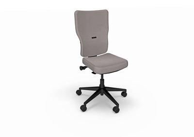 Chaise de bureau let s b textile enduit piétement noir