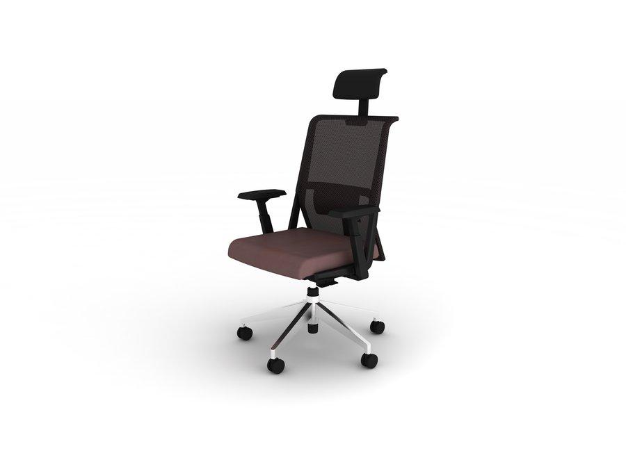 Fauteuil de bureau comforto 59 assise cuir dossier r sille avec appui t te - Fauteuil de bureau avec appui tete ...