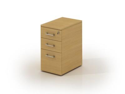 Caisson hauteur bureau placage bois mélaminé innéo manager